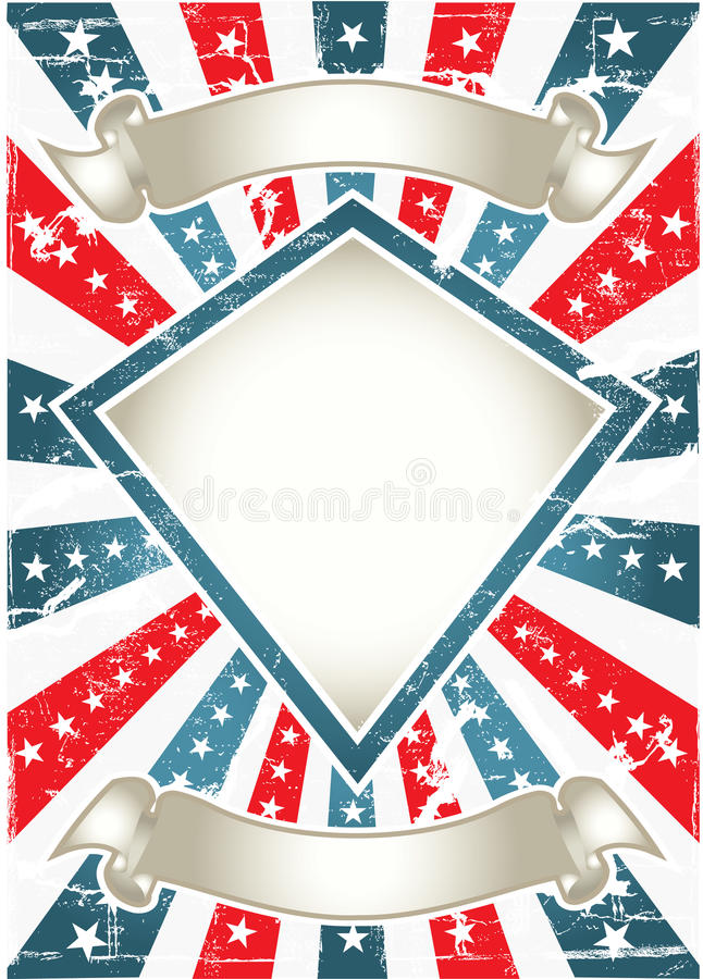 Download Colorful poster stock vector. Image of antique, independence - 23538786