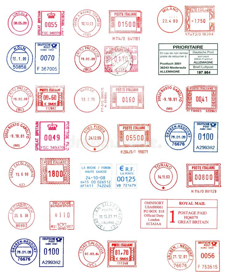 Free Colorful Postmarks Stock Photo - 10207190