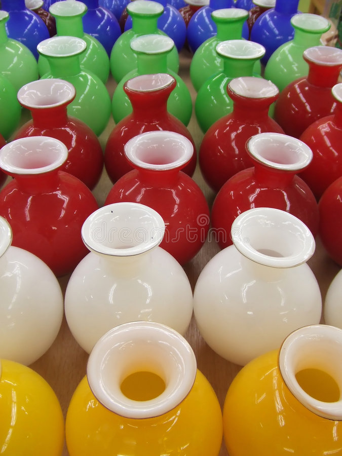 Colorful Pots stock images