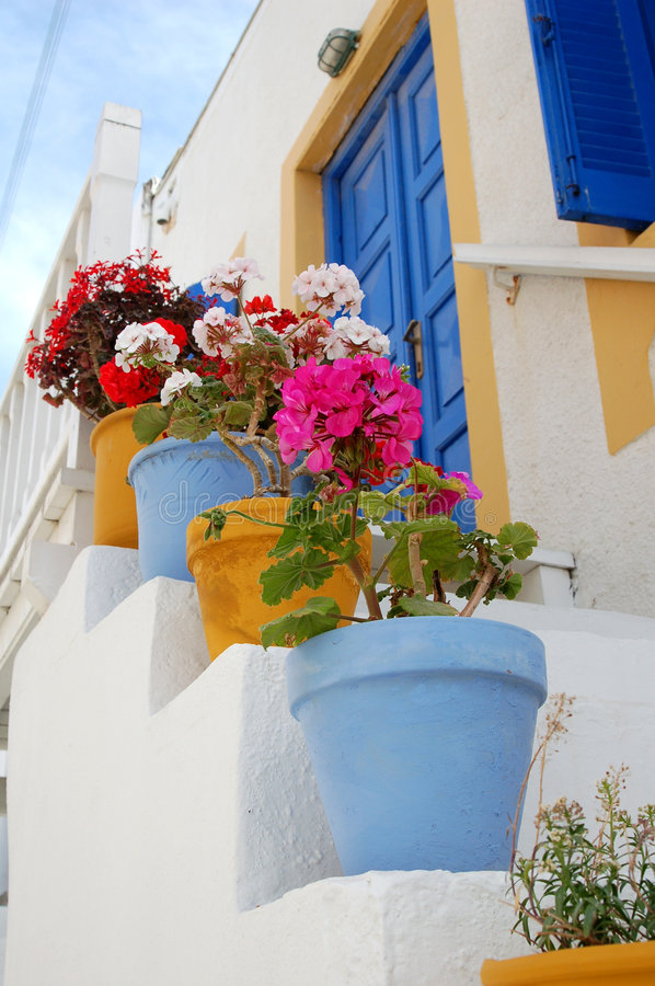 Colorful Pots royalty free stock photography
