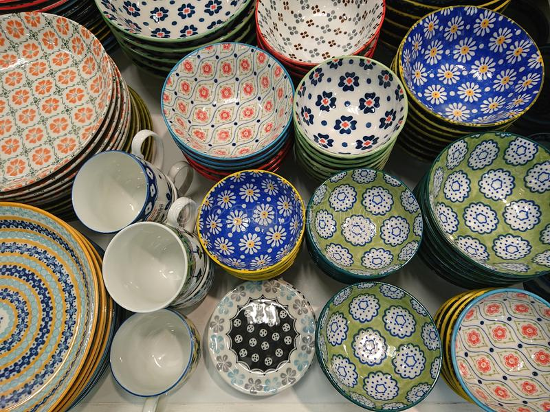 Colorful Pottery royalty free stock image