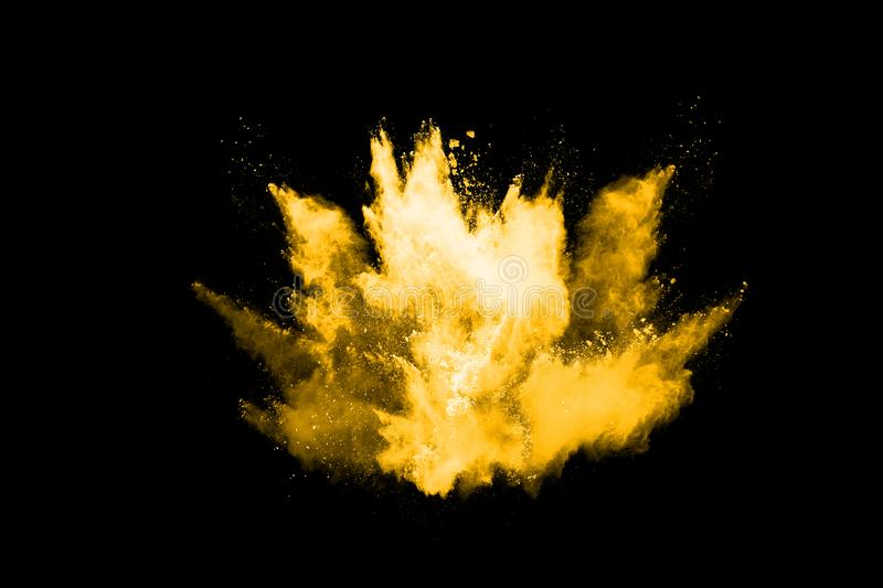 Colorful powder explosion on white background. Abstract powder splatted background. Colorful powder explosion on white background. Colored cloud. Colorful dust stock photography