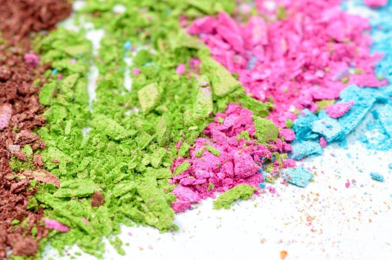 Colorful powder eyeshadow royalty free stock photo
