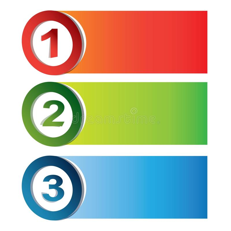 Colorful process char stock illustration