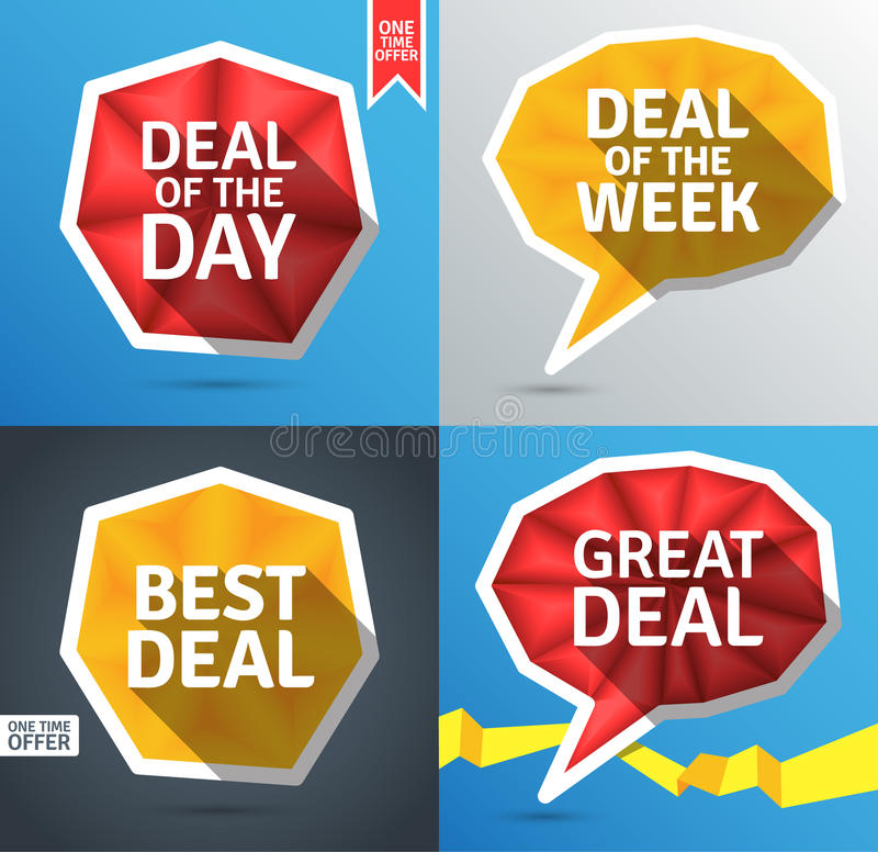 Colorful promo elements