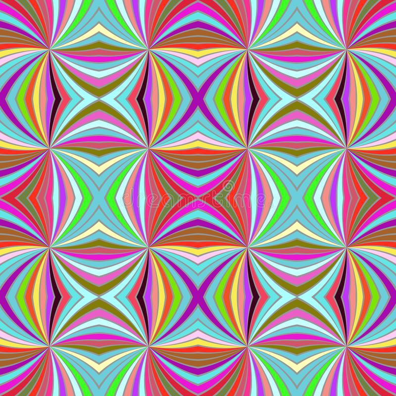 Colorful psychedelic seamless striped spiral vortex pattern background design. Colorful abstract psychedelic seamless striped spiral vortex pattern background stock illustration