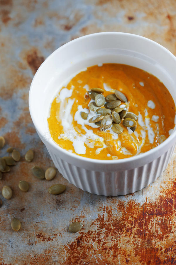 Free Colorful Pumpkin Soup Royalty Free Stock Photography - 94141017