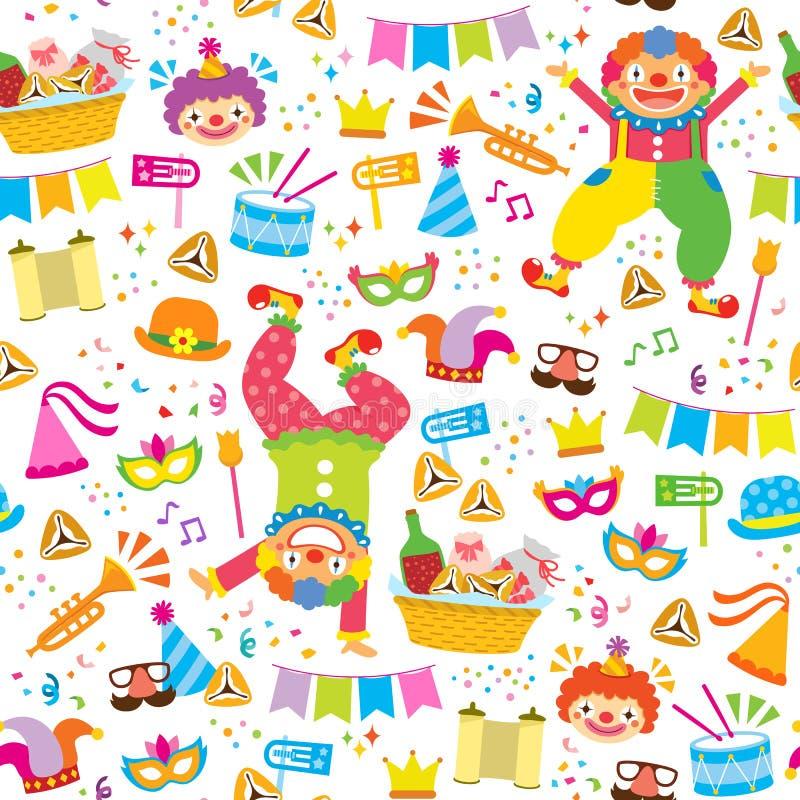 Colorful Purim Pattern vector illustration
