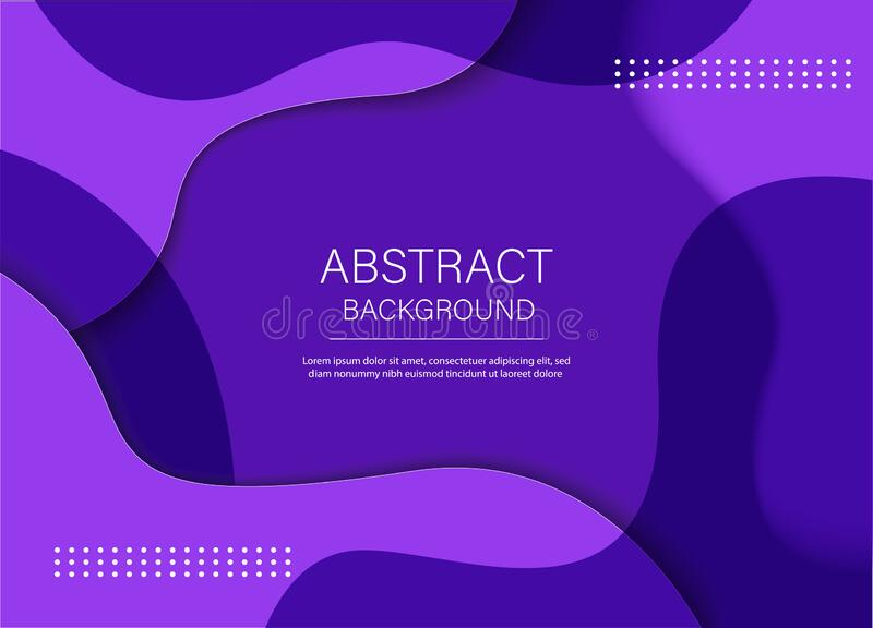 Colorful purple background. Composition of the liquid form. Creative illustration for poster, web, landing, page, cover, ad, vector illustration