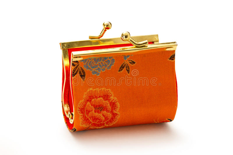 Colorful purse on white background stock image