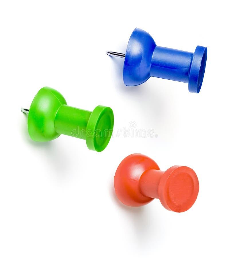 Free Colorful Push Pins Set Isolated On White Stock Photo - 51232960