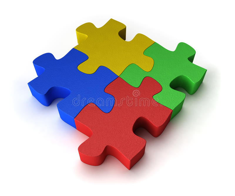 Download Colorful puzzle stock illustration. Image of individual - 15134203