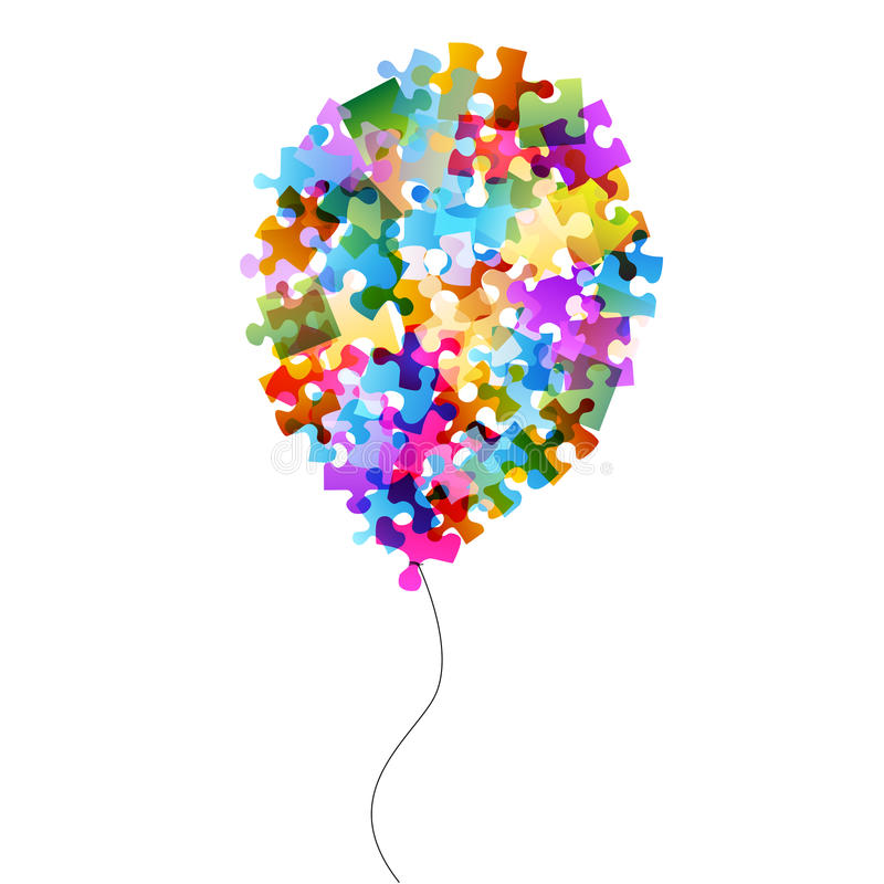 Download Colorful puzzle balloon stock illustration. Image of sweet - 26554462
