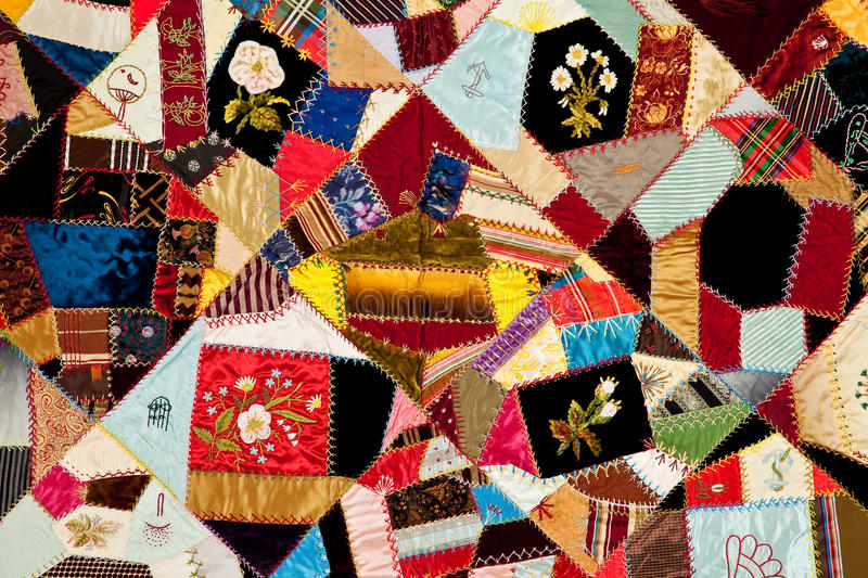 Colorful quilt pattern. Colorful antique quilt pattern background royalty free stock photos