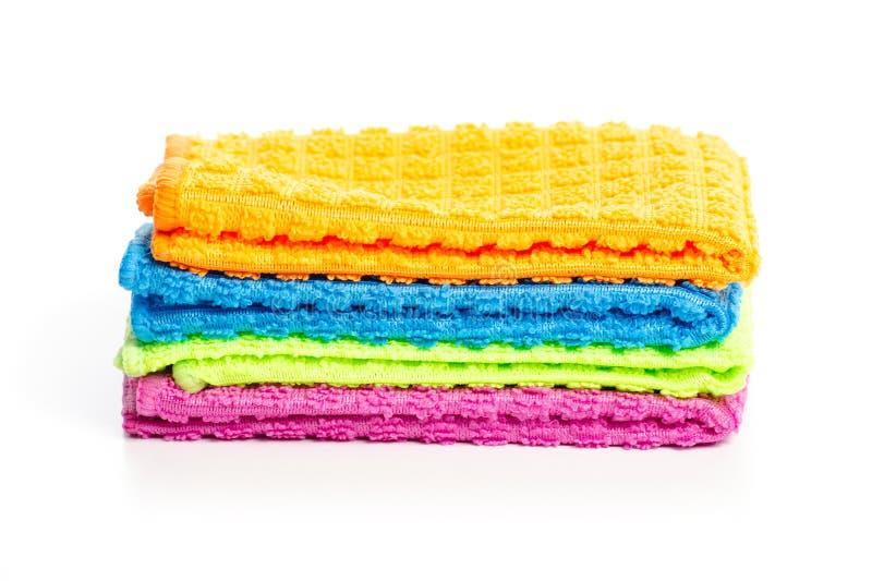Colorful rag cloth. On white background isolation royalty free stock photo