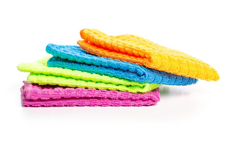 Colorful rag cloth. On white background isolation royalty free stock photography