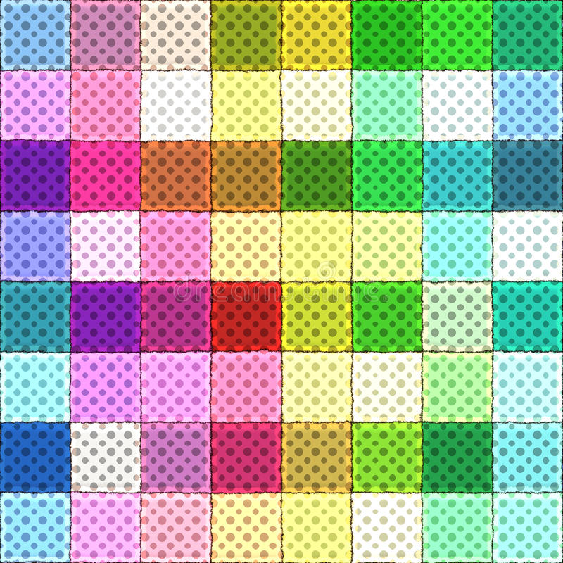 Download Colorful rag pattern stock illustration. Image of present - 10515727