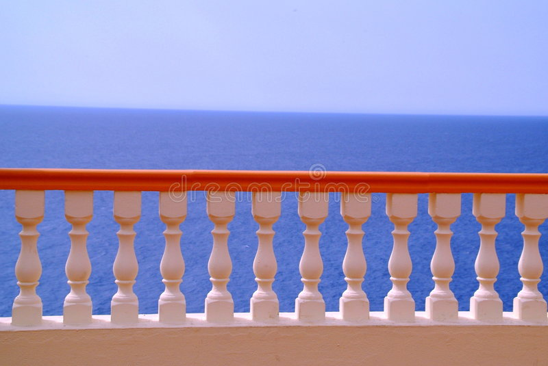 Colorful railing royalty free stock photography