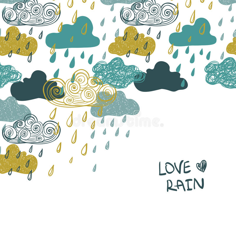 Colorful Rain Clouds Background. stock illustration