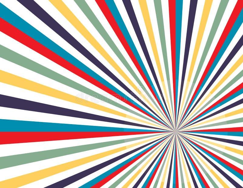 Colorful rainbow  background television vintage vector. Tv rays background vector eps10. Colorful rainbow  background television vintage vector. Tv rays stock illustration