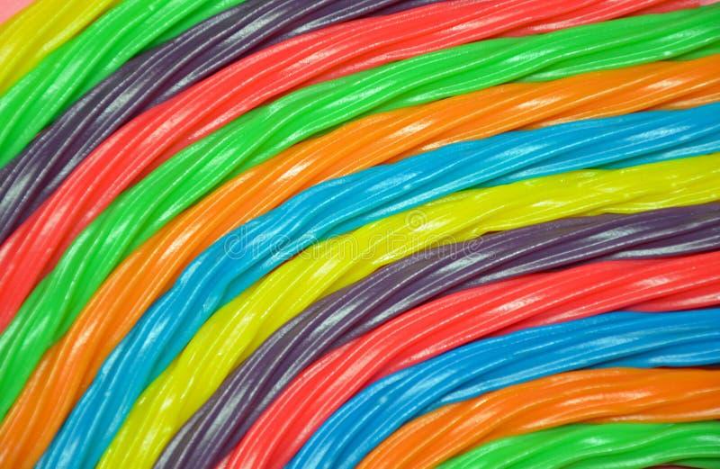 Colorful rainbow licorice stock photos
