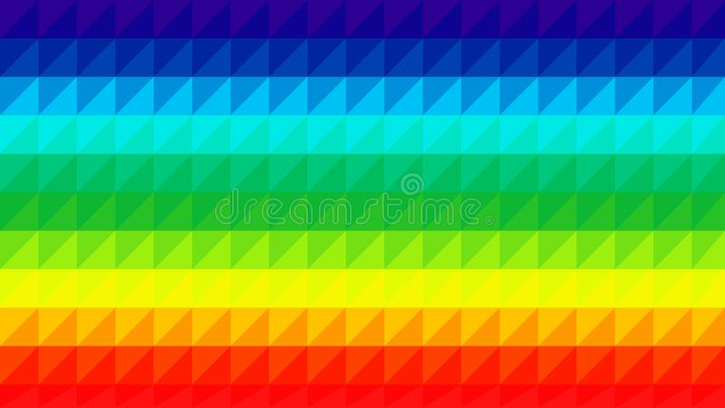 Rainbow Low Poly Vector Background. Colorful rainbow low poly vector gradient background. Polygonal texture, good as a cell phone, marketing material, or website stock illustration