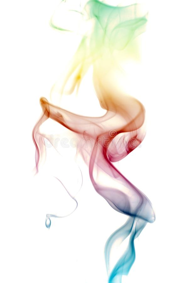 Colorful Rainbow Smoke royalty free stock photo