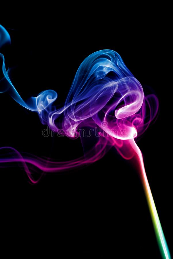 Download Colorful Rainbow Smoke stock photo. Image of color, floating - 8096686
