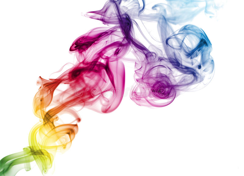 colorful rainbow smoke stock image image of deep