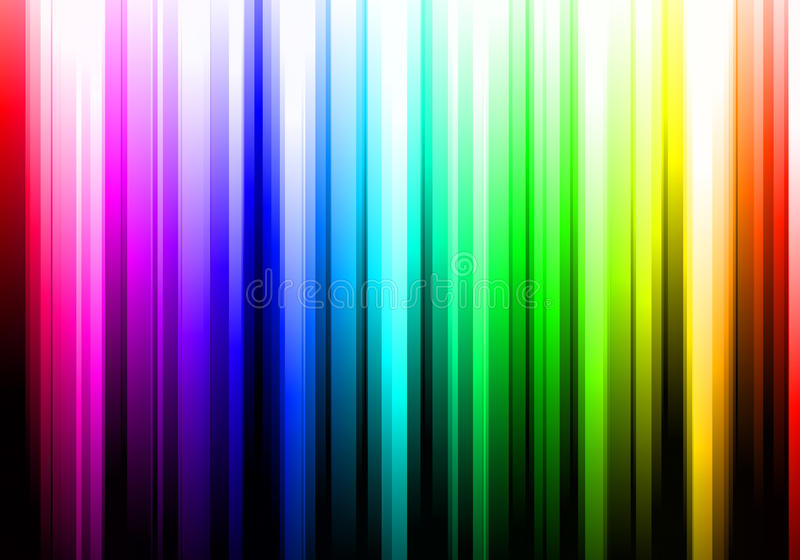 Colorful Rainbow Stripes Royalty Free Stock Photo