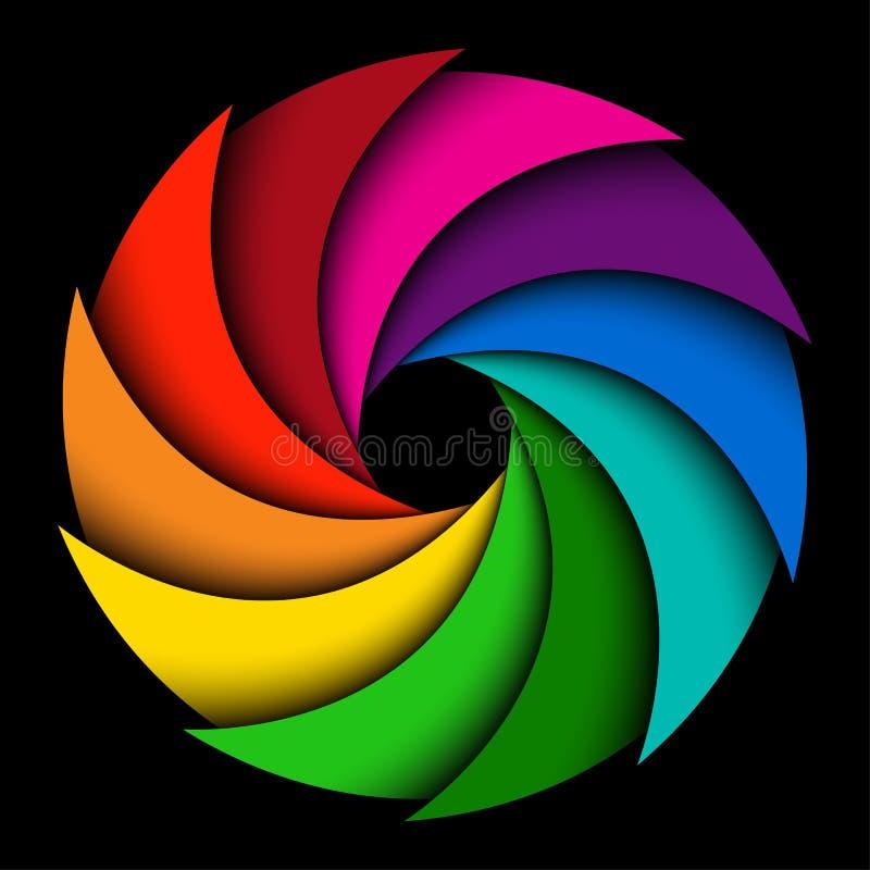 Colorful rainbow swirl royalty free illustration