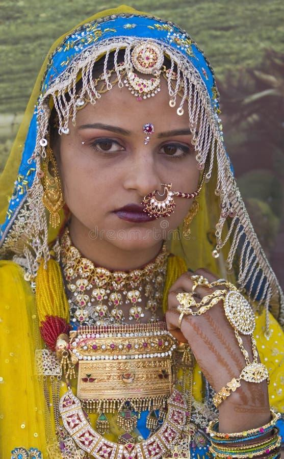 Colorful Rajasthani Woman stock image