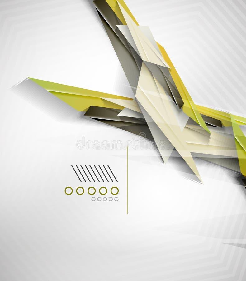 Colorful realistic geometric shape design template vector illustration