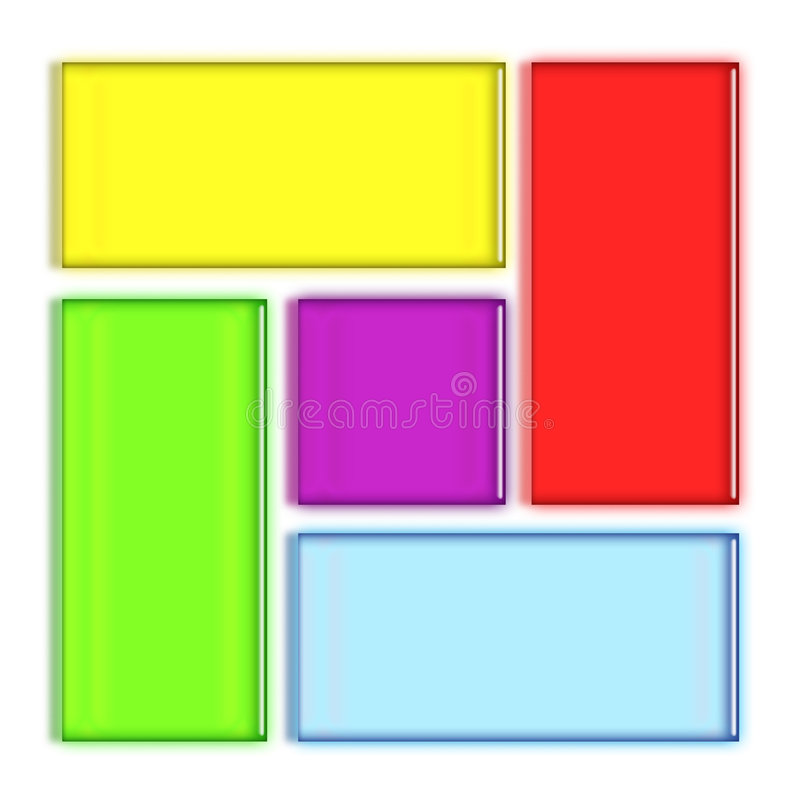 Colorful rectangles vector illustration
