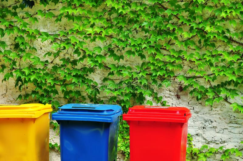 Recycling bins stock image