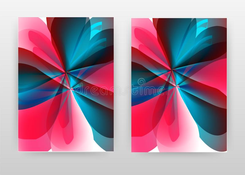Colorful red blue flower petal concept abstract design of annual report, brochure, flyer, poster. Colorful concept background. Vector illustration flyer royalty free illustration