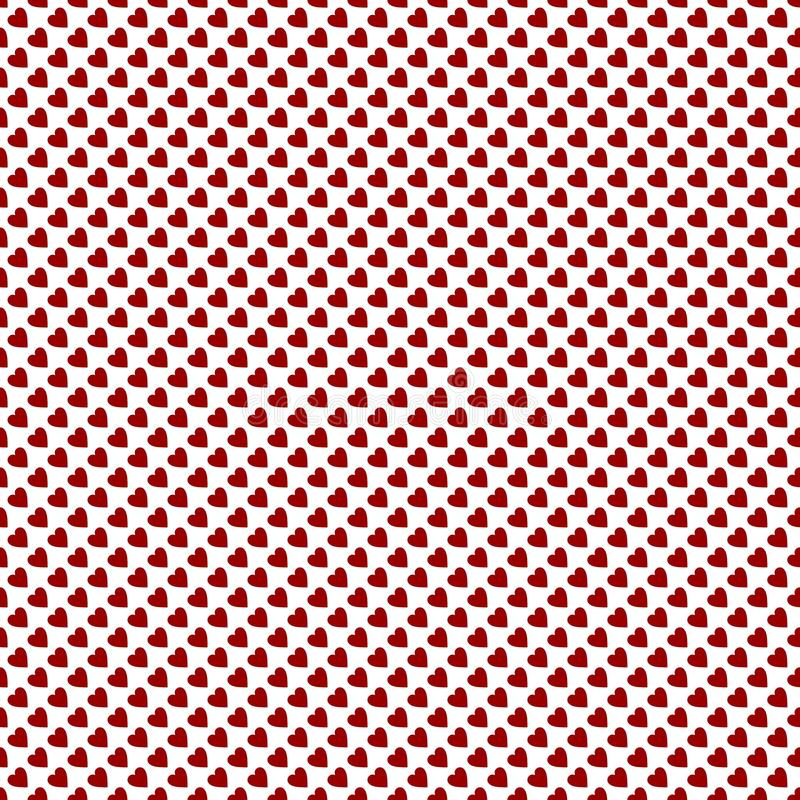 Colorful red heart abstract vector background and seamless repeat pattern design vector illustration