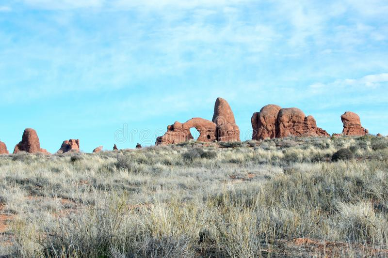 Arches National Park, Moab, Utah. royalty free stock photography