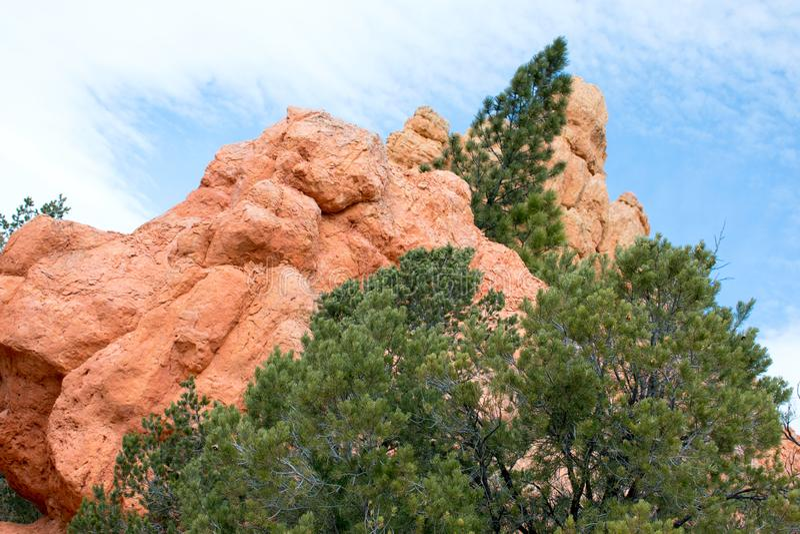 Arches National Park, Rocks Red Desert Mountain Landscape stock image