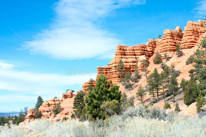 Arches National Park, Rocks Red Desert Mountain Landscape royalty free stock image
