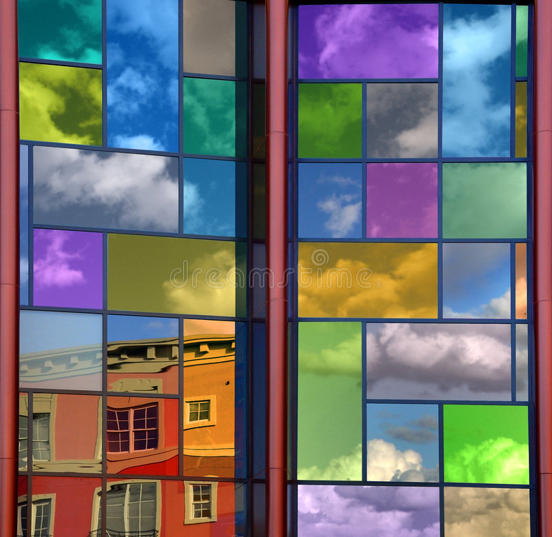 Colorful reflection royalty free stock photos