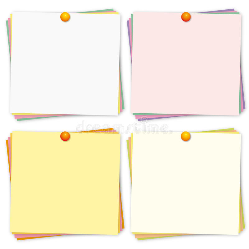Free Colorful Reminders Set. Stock Images - 29391844