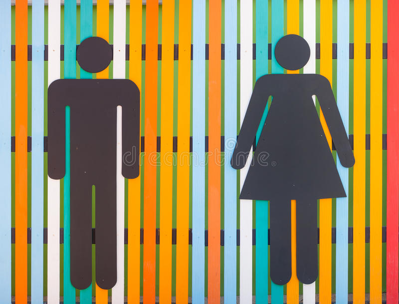 Colorful restroom sign royalty free stock photos