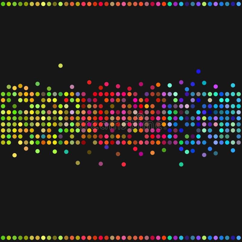 Colorful retro dots vector illustration