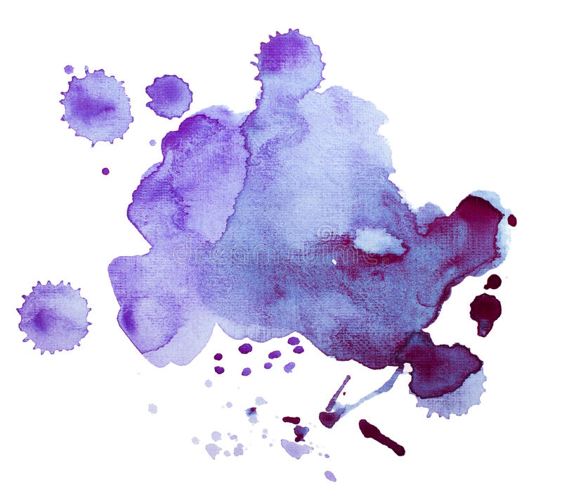Colorful retro vintage abstract watercolour / aquarelle art hand paint on white background.  royalty free stock photography