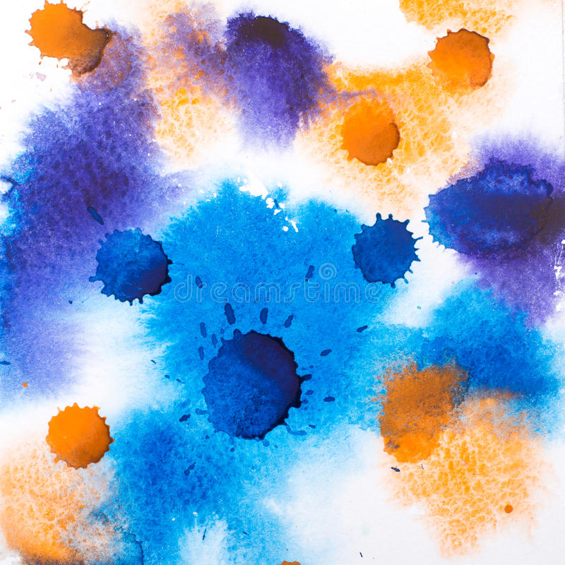 Colorful retro vintage abstract watercolour aquarelle paint. stock photo
