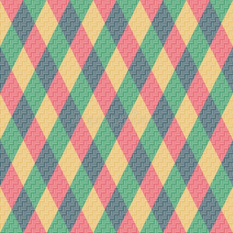 Colorful Rhombus. Seamless Pattern, Background Stock Photo