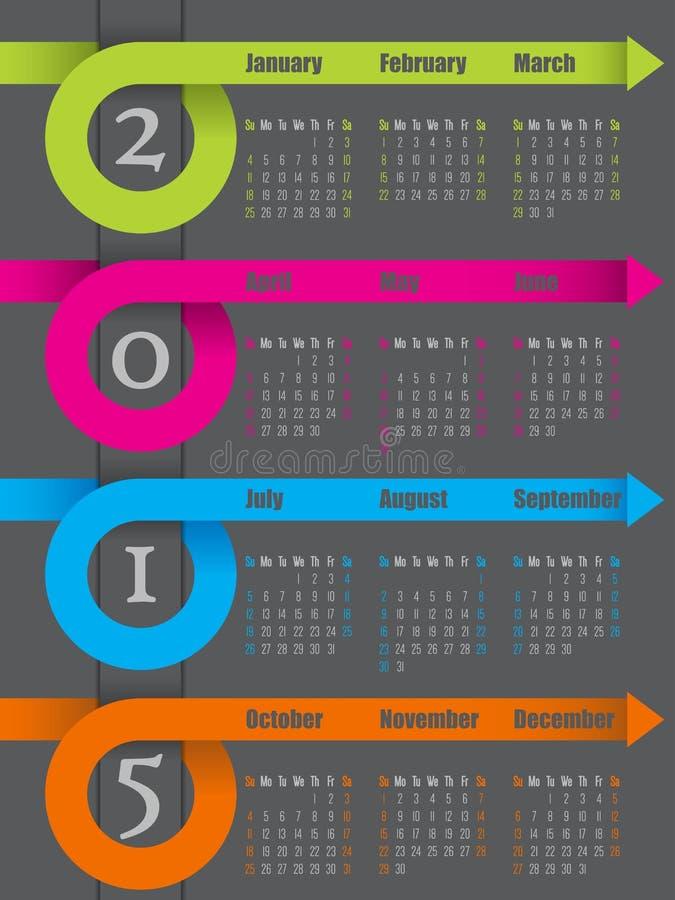 Calendar Ribbon Design : Colorful ribbon arrow calendar design stock vector