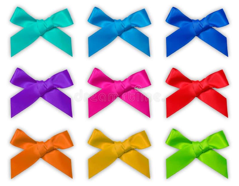 Colorful ribbon bow / bows stock photos