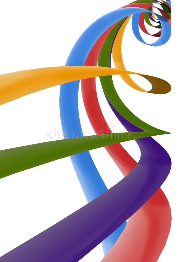 Colorful Ribbons stock illustration